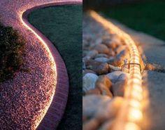 Un cordon lumineux pour une allée de jardin plus belle. 23 merveilleuses idées DIY pour décorer votre jardin