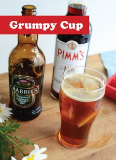 Grumpy Cup - just like a Pimm's Cup, except with Crabbie's Ginger Beer