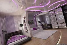 I LOVE this bedroom for Amy when she a teenager. since her middle name is amethyst.