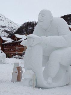 Valloire sculture di ghiaccio