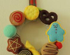 Felt Baking Set Felt Food Felt Cookies Eco friendly por decocarin