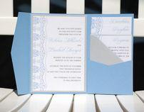 Blue Metallic Pocket Card Suite