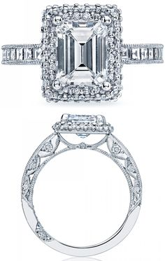 wedding radiant cut and engagement rings on