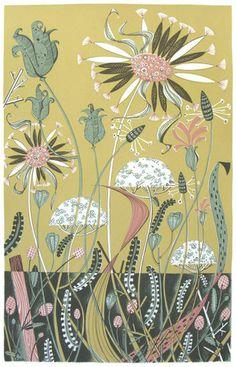 Wild Garden II By Angie Lewin