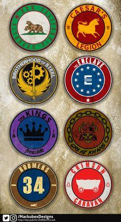 Fallout Faction Badges