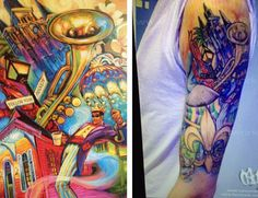 "Fan gets tattoo of ""Flavor of New Orleans """