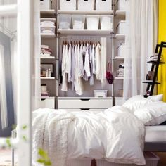 Bedroom storage organization is a quite difficult task. Here are some ideas to help you succeed.