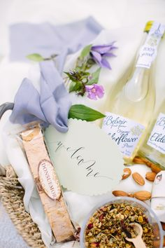 Wedding Welcome Basket by Marigold & Grey Photography by K.