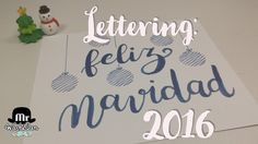Lettering feliz navidad a tod@s - YouTube