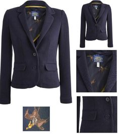BNWT Ladies JOULES Georgie Marine Navy Blazer Jacket Sizes 6 10 12 14 16 RRP£100