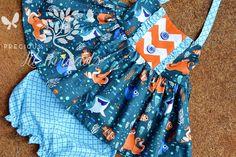Baby Toddler Girls Ruffle Tie Back Dress OR by PreciousLilThreads
