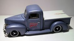 My 40 Ford build , from Revell kit , painted Tamiya ts58 ( pearl light blue )…