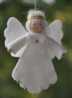 990 greetje - My site Angel Crafts, Christmas Projects, Holiday Crafts, Holiday Decor, Christmas Angel Ornaments, Christmas Art, Diy Ornaments, Illustration Noel, Christmas Tree Decorations