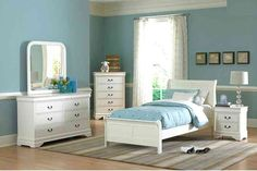 Marianne Youth Bedroom Set - Lexington Overstock Warehouse - it's actually called Marianne! Twin Bedroom Furniture Sets, Twin Bedroom Sets, Sleigh Bedroom Set, Pink Bedroom For Girls, Bedroom Ideas, Nursery Furniture, Guest Bedrooms, Furniture Decor, White Furniture