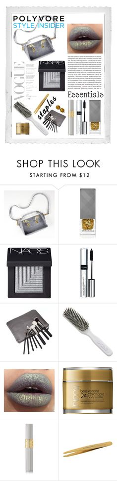 V.2. by szkatulkaami on Polyvore featuring uroda, NARS Cosmetics, Yves Saint Laurent, By Terry, Tweezerman, Rodial, Burberry, Kent, Retrò and Oris