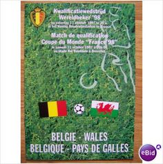 Belgium v Wales 11/10/1997 World Cup Qualification Football Programme Sale