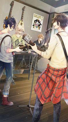 Connor's crew On this image you will notice -Connor Sawada / Guitarist and singer -Rin Matsumoto / Bassist -Akira chii / Keyboard -Axel drake / Drums Manga Anime, Fanart Manga, Manga Girl, Cool Anime Guys, Hot Anime Boy, Anime Love, Anime Guys With Glasses, Akira, Estilo Anime