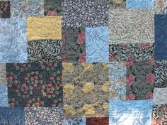 arts and crafts movement quilts | Here is a view of the back of the quilt. I pieced together all the ...