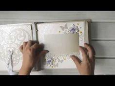 Свадебный альбом нежный цветочно-бабочковый (видео обзор) - YouTube