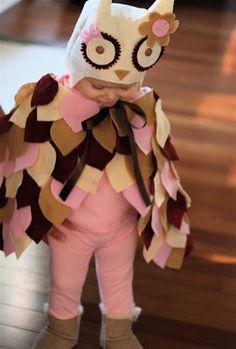 DIY owl costume for toddler Halloween