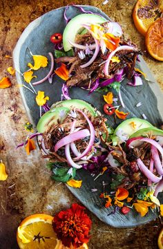 Spicy Orange Brisket Tacos - Heather Christo