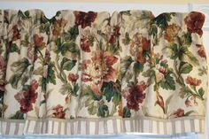 """Mill Creek Red Beige Green Floral Toile Valance 17"""" x 81"""" Dra Wt Alter Curtain #Beige #Floral #Green"""