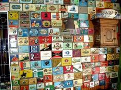 One of many walls at Bob Hommes' home.Make sure to visit the exhibit of Post WWI tins.82-9924