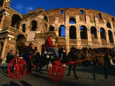 Horse-Drawn Carriage at the Colosseum, Rome, Italy Photographic Print by Martin Moos at AllPosters.com