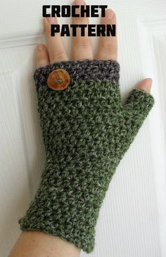 Crochet 2 in 1 Pattern for HDC Fingerless por TheArtofZenCrochet