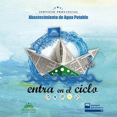 """Campaña """"Entra en el ciclo del agua""""  Cliente: Promedio. Diputación de Badajoz. #carteleria #poster #ilustracion #illustrator #illustration #graphicdesing"""