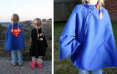 Fleece Superhero Poncho — the feeling of a cape, the warmth of a poncho. Brilliant!