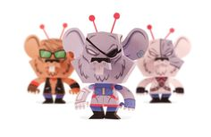 Biker Mice From Mars - Papertoy on Toy Design Served