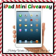 Holiday Wishes iPad Mini Giveaway - My DairyFree GlutenFree Life Christmas Morning, Christmas Gifts, Holiday Wishes, Grab Bags, New Ipad, Mini Me, Ipad Mini, Stuff To Do, Projects To Try
