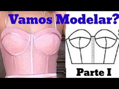 Sewing Tutorials, Sewing Patterns, Cotton Nighties, Top Cropped, Corset Pattern, Married Men, Fashion Videos, Bustier Top, Diy Clothes