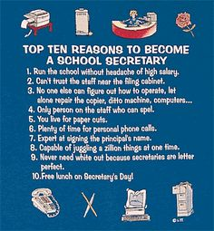 Top 10 Reasons to Become a School Secretary