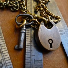 Antique padlock and key