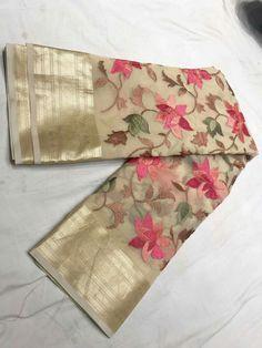 Chiffon Saree Party Wear, Bridal Silk Saree, Organza Saree, Silk Sarees, Saree Tassels Designs, Half Saree Designs, Saree Blouse Designs, Trendy Sarees, Fancy Sarees