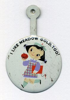 Mary Blair Meadow Gold button by grickily, via Flickr