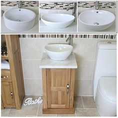 Cloakroom-Bathroom-Vanity-unit-oak-Wash-Stand-White-Marble-Ceramic-Basin-309