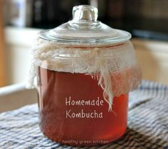 Homemade Kombucha | Healthy Green Kitchen another great use for the Heritage Hill Jars from Fillmore Container!