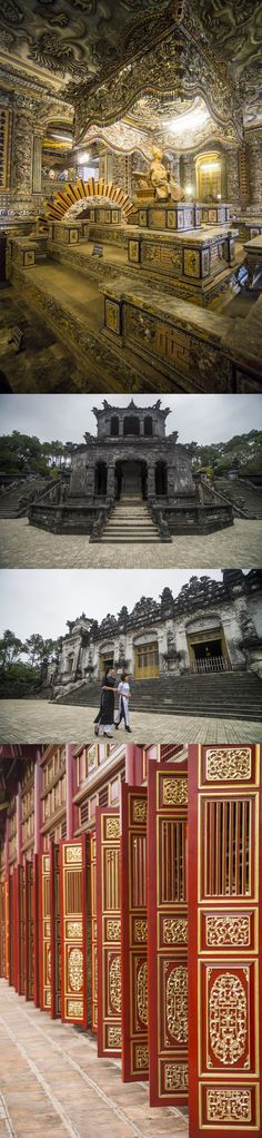 Hue, Vietnam. This was once the capital and now the old palace.