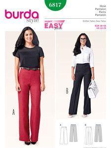 burda style: Damen - Hosen - Gerade Hosen - Hose – gerade Beinweite
