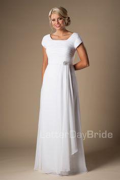 modest wedding dresses Sariah simple