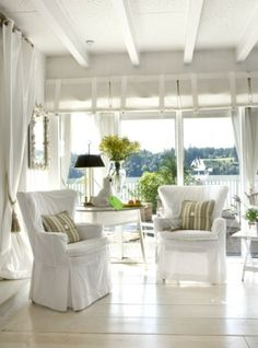 Lovely sitting area with lake view.