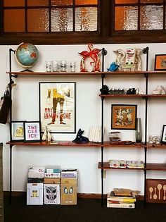 Shelving unit idea adjusted fr This Brick House's tutorial.