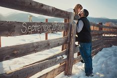Save the Date!  Country Winter Engagement Session.