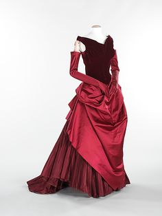 Charles James (American, born Great Britain, 1906–1978). Dress (Ball Gown), 1949–50. The Metropolitan Museum of Art, New York. Brooklyn Museum Costume Collection at The Metropolitan Museum of Art, Gift of the Brooklyn Museum, 2009; Gift of Erik Lee Preminger in memory of his mother, Gypsy Rose Lee, 1993 (2009.300.585a–d). #reddress