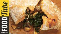 Easy Mushroom & Spinach Pizza Calzone Recipe   Jamie Oliver http://www.jamieoliver.com/recipes/bread-recipes/calzone/