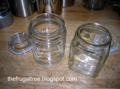 Empty Candle Jars For Frugal Decor how to get out the wax and clean them up)