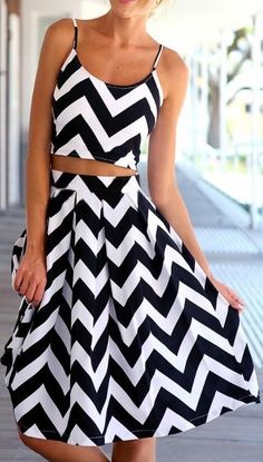 Chevron two piece dress